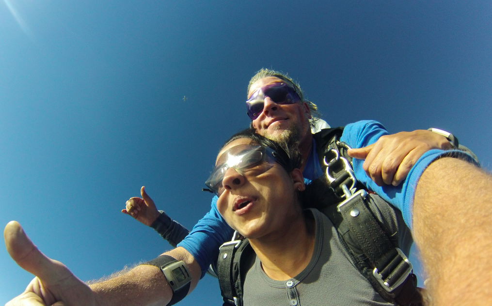 Sky diving in Oceanside, California with GoJump