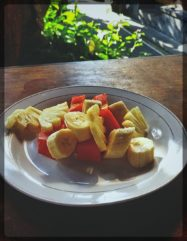 Fruit Salad in homestay in Ubud, Bali