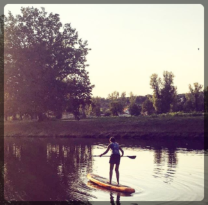 PaddleBoarding in Stromovka Park, Prague