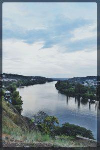 River view From Vysherad Hill, Prague