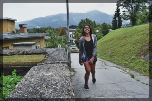 Excited for the hike in Bled Slovenia