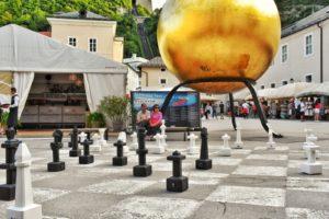 Chessboard in Kapitelplatz, Salzburg, Austria