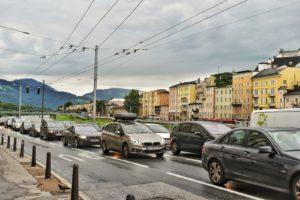 Traffic on roads in Salzburg