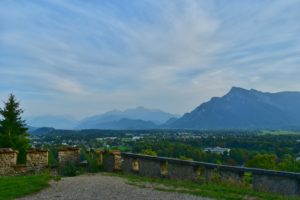 City and Hills view from the fortress, salzburg, austria