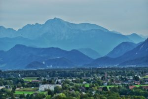 Incredible Views from the gardens, hohensalzburg fortress, salzburg, austria