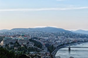 View from Gellert Hill in Budapest, Hungary