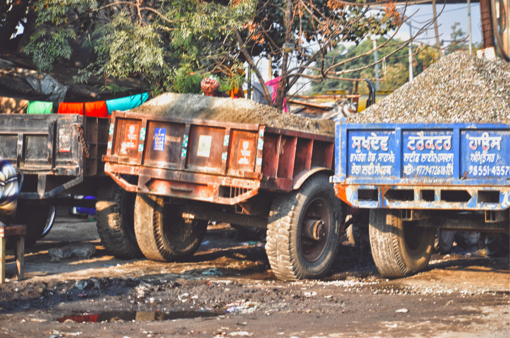 Trucks Parked in Amritsar - life in the city