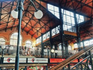 Central market hall in Budapest, Hungary