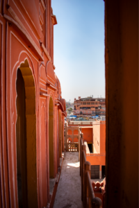 City view from Hawa Mahal in Jaipur during day