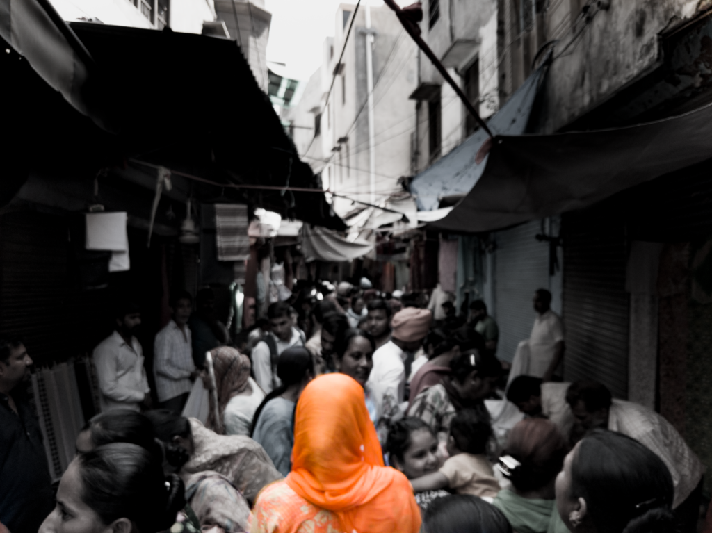 A crowded street of Amritsar