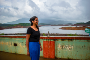 Posing at Banasura Dam