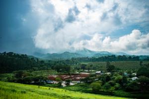 View of the hills from Banasura Dam