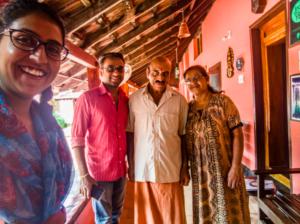 My loveliest hosts at Kudajadri Drizzle homestay
