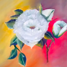 oil painting flower